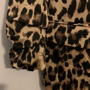 SHEIN Jackets & Coats - Women's | Leopard Print Open Front Casual Blazer